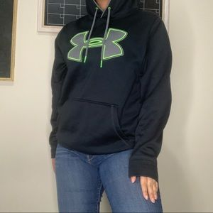 Black hoodie with neon accents